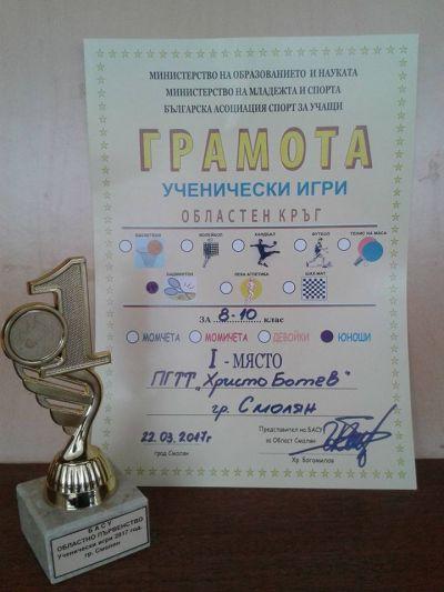 Ученически игри 2016/2017 - ПГТТ Христо Ботев - Смолян