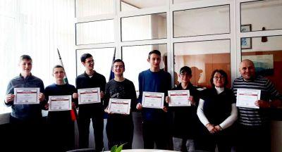 Първенци в областта на национален конкурс за STEM науки в България. 1